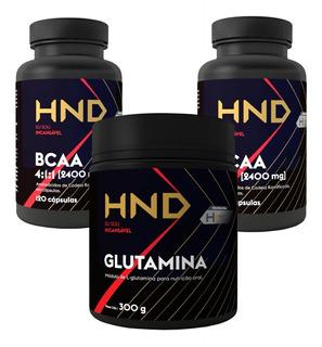 Kit Academia Bcaa E Glutamina - Musculação Fit Suplementos