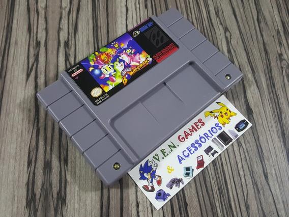Bomberman 3 + Mário Allstar + Top Gear 2 P/ Snes+ Garantia!