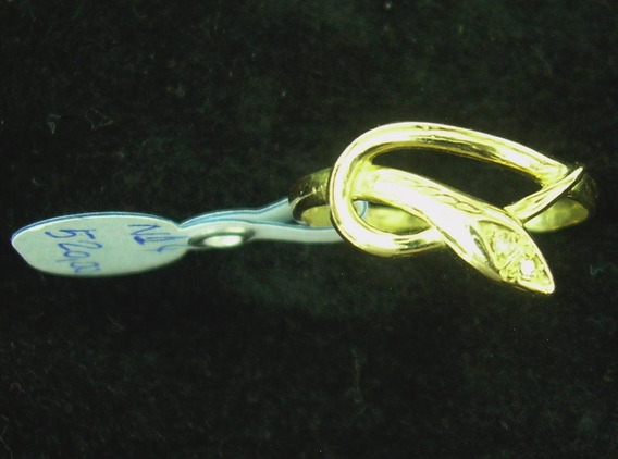 Anel Cobra Em Ouro Amarelo 18k-750