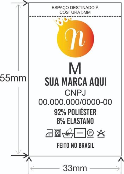 1000 Etiquetas Composição Personalizadas Coloridas 33x55mm