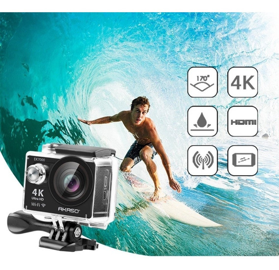 Câmera De Ação Akaso Ek7000 4k Wifi