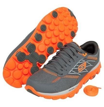 Tenis Skechers Go Run Ride 2 Cinza/laranja Original Nº 41