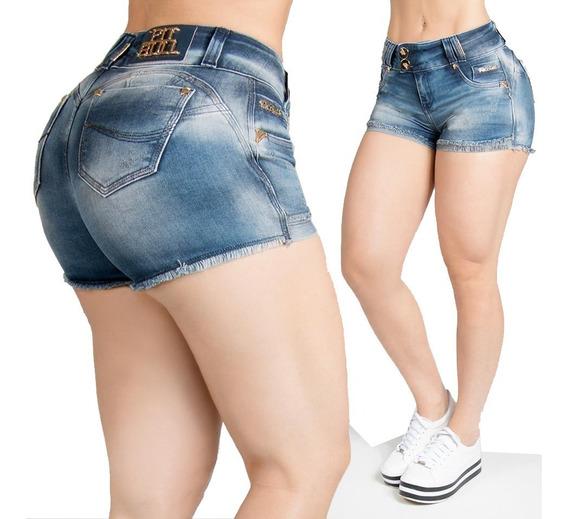Short Curto Escuro Jeans C/lycra Pit Bull Original 84