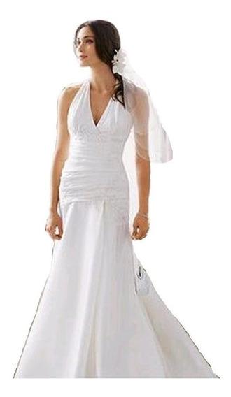 Vestido De Noiva - Branco - 38 - Fotos Reais - Vn00061