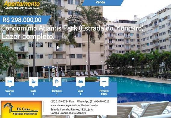 Apartamento Para Venda Em Rio De Janeiro, Campo Grande, 3 Dormitórios, 1 Suíte, 2 Banheiros, 1 Vaga - 023