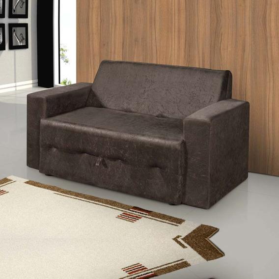 Sofá-cama Pratik 5000 Mamflex Marrom Suede Amassado