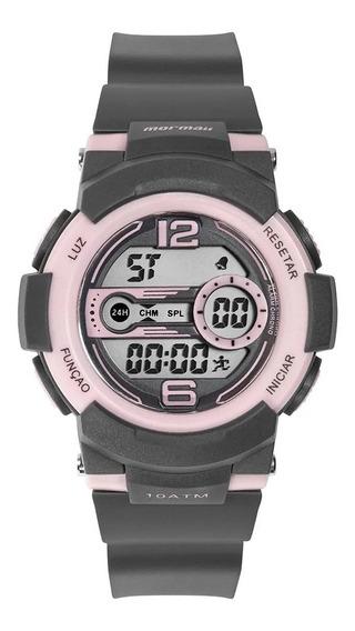 Relógio Infantil Mormaii Nxt Preto E Rosa Mo9480ab/8c Com Nf