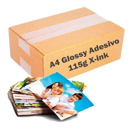 100 Papel Fotográfico Adesivo 115g A4 À Prova D´água X-ink