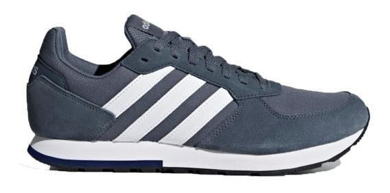 Zapatillas adidas Urbanas 8k Hombre Gris O Azul Abc Deportes