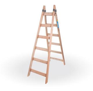 Escalera Pintor De Madera Reforzada 6 Escalones - Prestigio