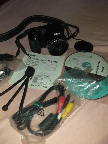 Maquina Fotográfica Nikon Com Cds E Cabos Novos Nunca Usados