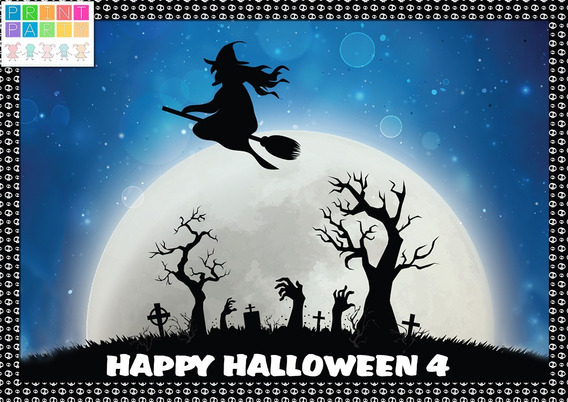 Halloween 4 Kit Imprimible Personalizado Incluye Candy Bar