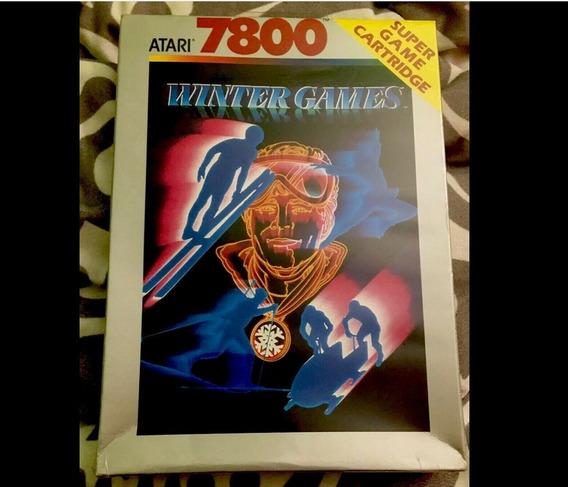 Atari Jogo Winter Games Esquiador Simulador Lacrado De 1989