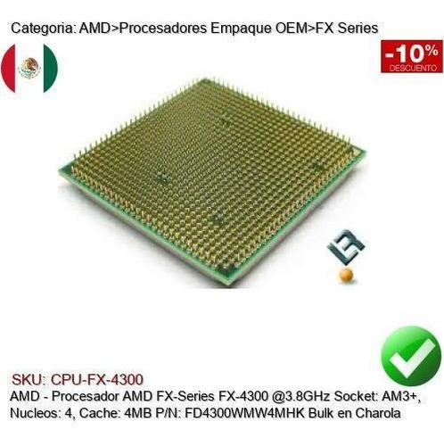 Cpu Amd Fx Series Fx 4300 3 8ghz Am3 C4 4mb Fd4300wmw4mhk Mercado Libre