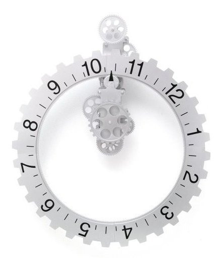 Reloj De Pared Giratorio De La Gran Rueda Kikkerland