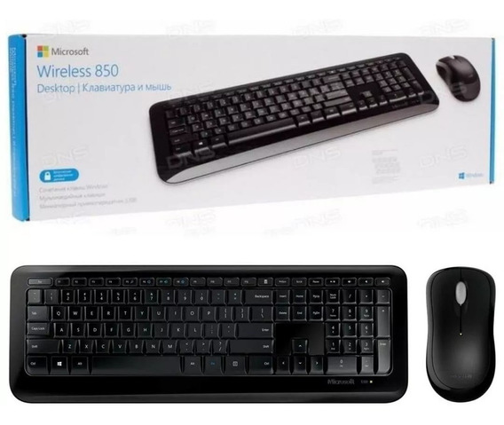 Kit Teclado E Mouse Sem Fio Microsoft Desktop 850