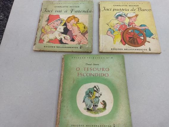3 Livros Antigos De História Infantil Coleção Primavera