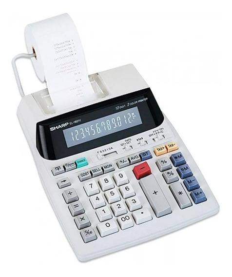 Calculadora De Mesa Sharp El-1801v Com Bobina 110v Original