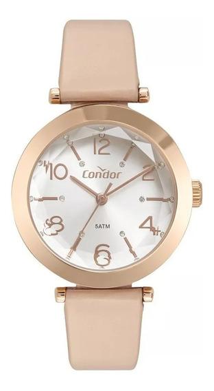 Relógio Feminino Condor Rose Lapidado Coy121e1ab/2k Original
