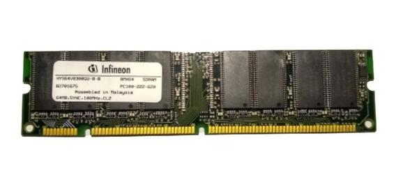 Infineon 128 Mb Sdram, 100mhz, 16m X Pc100-222-620 64, Hys64