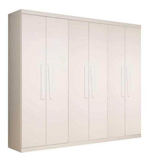 Guarda Roupa Branco Casal 6 Portas Infinity 2.7 Lindíssimo
