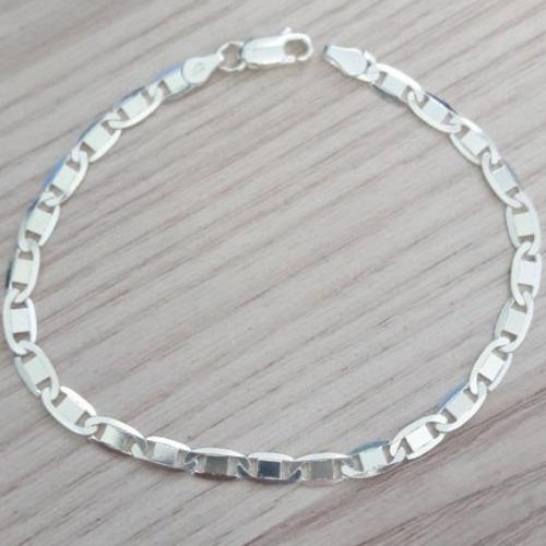 Pulseira De Prata Masculina Gucci 21,5cm X 0,5cm (prata 925)
