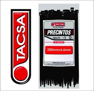 Precintos Plasticos Tacsa 100u 200mm X 4.6mm (20cm)