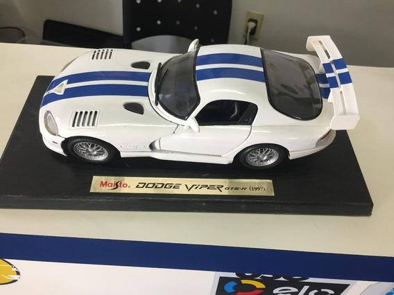 Veículo Miniatura Dodge Viper 1/18 Raro Gts Original