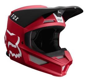 Capacete Fox Mx V1 Mvrs Mata Vermelho Modelo 2019 Lançamento