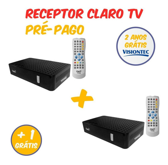 Receptor Claro Tv Livre 2 Anos + Ponto Extra Gratis