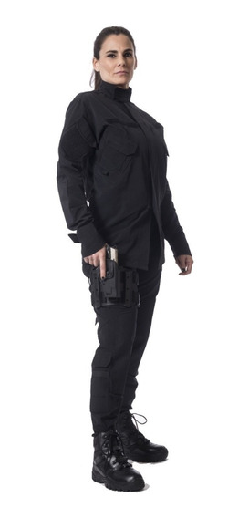 Conjunto Pantalon Y Chaqueta Tactico Ripstop Antidesgarro Mujer