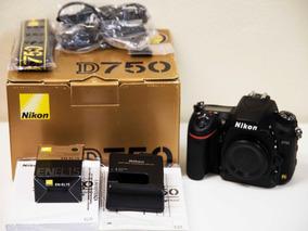 Nikon D750 24.3mp + 64gb Tripé Bolsa Grip Sb910