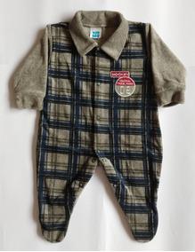 Macacão Em Plush Bebê Menino Kit 5 Unidades Variadas