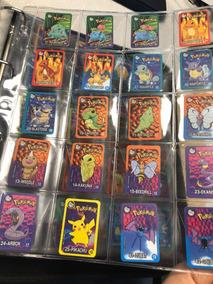 Coleção Tazos Retangulares Supercartas Pokemon Elma Chips