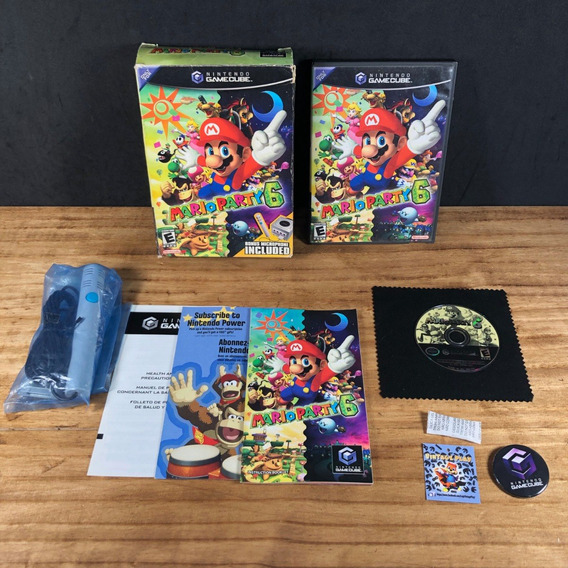 Mario Party 6 Bundle Big Box Original P/ Gamecube!! Raro!!