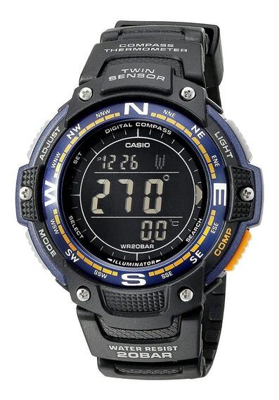 Relógio Esportista Casio Analógico Sgw100 2b Sensor Duplo