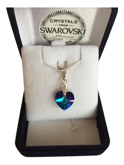Joyas Collar Swarovski Elements Corazón H Plata