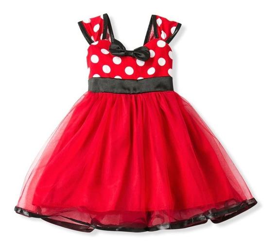 Vestido Minnie Mouse Y Diadema