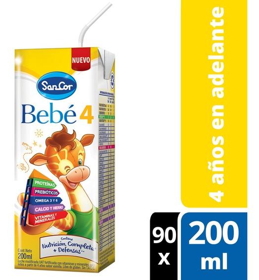 Sancor Bebe 4 Leche Infantil Líquida Pack 90 Bricks X200ml