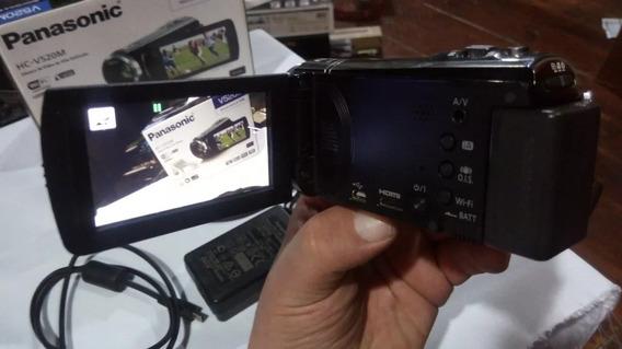 Camcorder Panasonic V520mlb-k Filmadora Com 16gb De Memória
