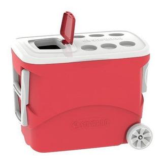 Caixa Térmica Tropical Com Rodas 50l Vermelha Soprano