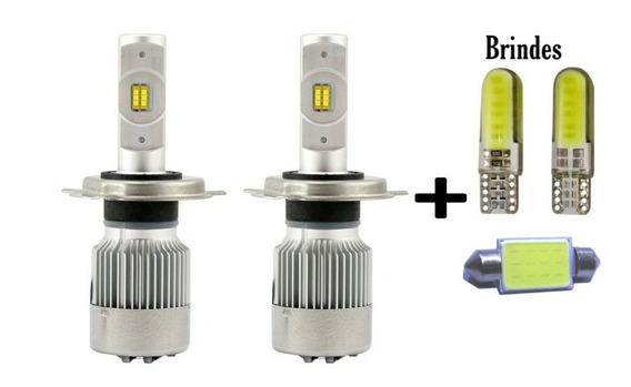 Lâmpada Ultra Led Foco Perfeito+ Brinde Farol H4 Alta/baixa