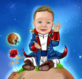 Caricatura Digital Infantil Para Aniversários Promoção