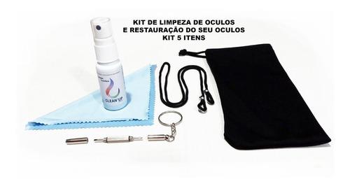 Kit Limpeza Lente De Oculos 5 Itens Com Nota Fiscal
