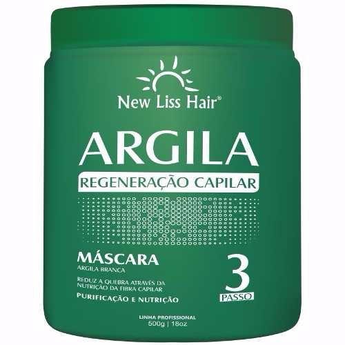 Mascara De Tratamento Capilar Argila 500g New Liss Hair
