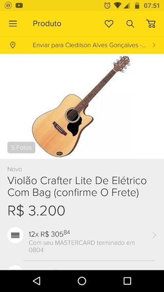 Violão Crafter Bem Abaixo Do Valor.