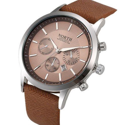 Relógio Masculino North Original, Quartzo, À Prova D