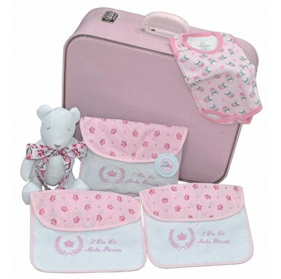 Embalagem Para Saida De Maternidade - 3 Peças - Rosa Menina