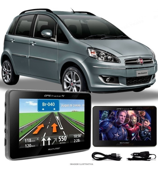 Gps Automotivo Fiat Idea Tela 4.3 Voz Tv Digital Fm Oferta