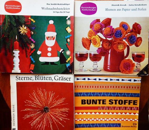 Flores De Papel, Espigas Y Piñas, Navidad, Estenciles Lote 4